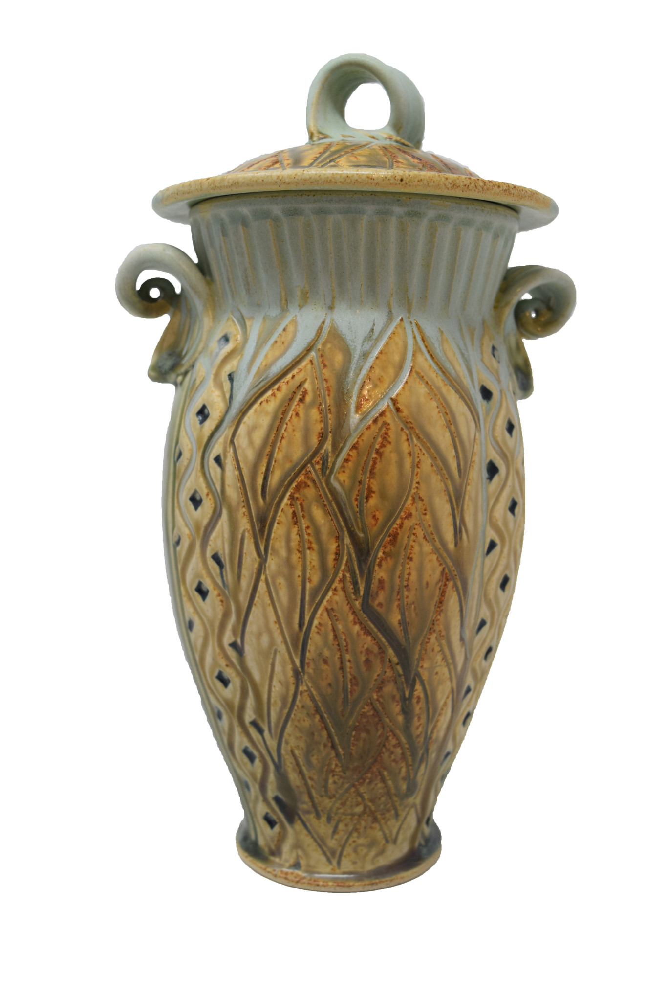 Small Carved Jar-7