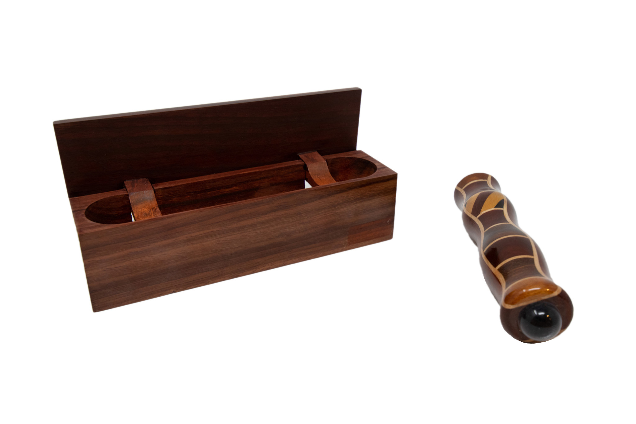 Wood Box Lift Up Paduak w/5.5Tscope-1