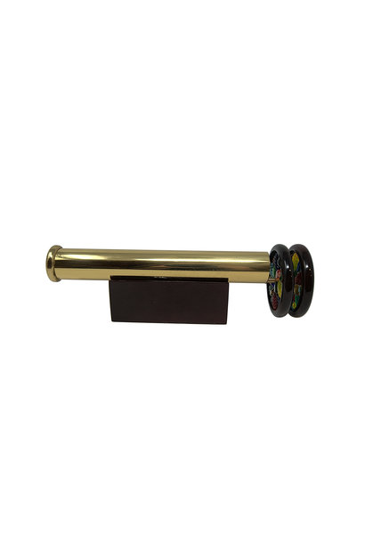 "7.75"" Brass Scope w/2.25 wheels"