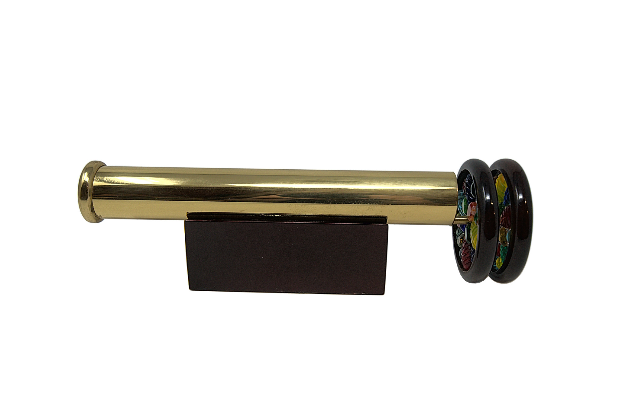 "7.75"" Brass Scope w/2.25 wheels-1"