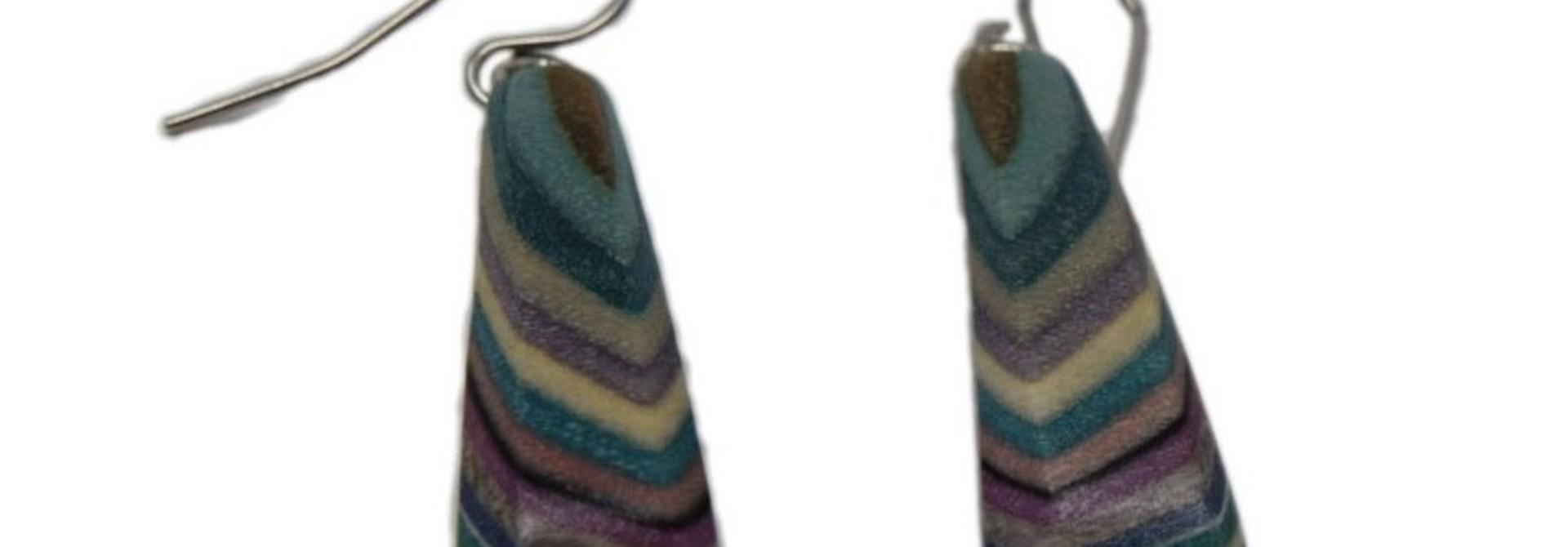 Short Triangle Earrings