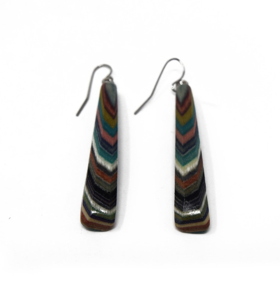 Large Triangle Earrings-1