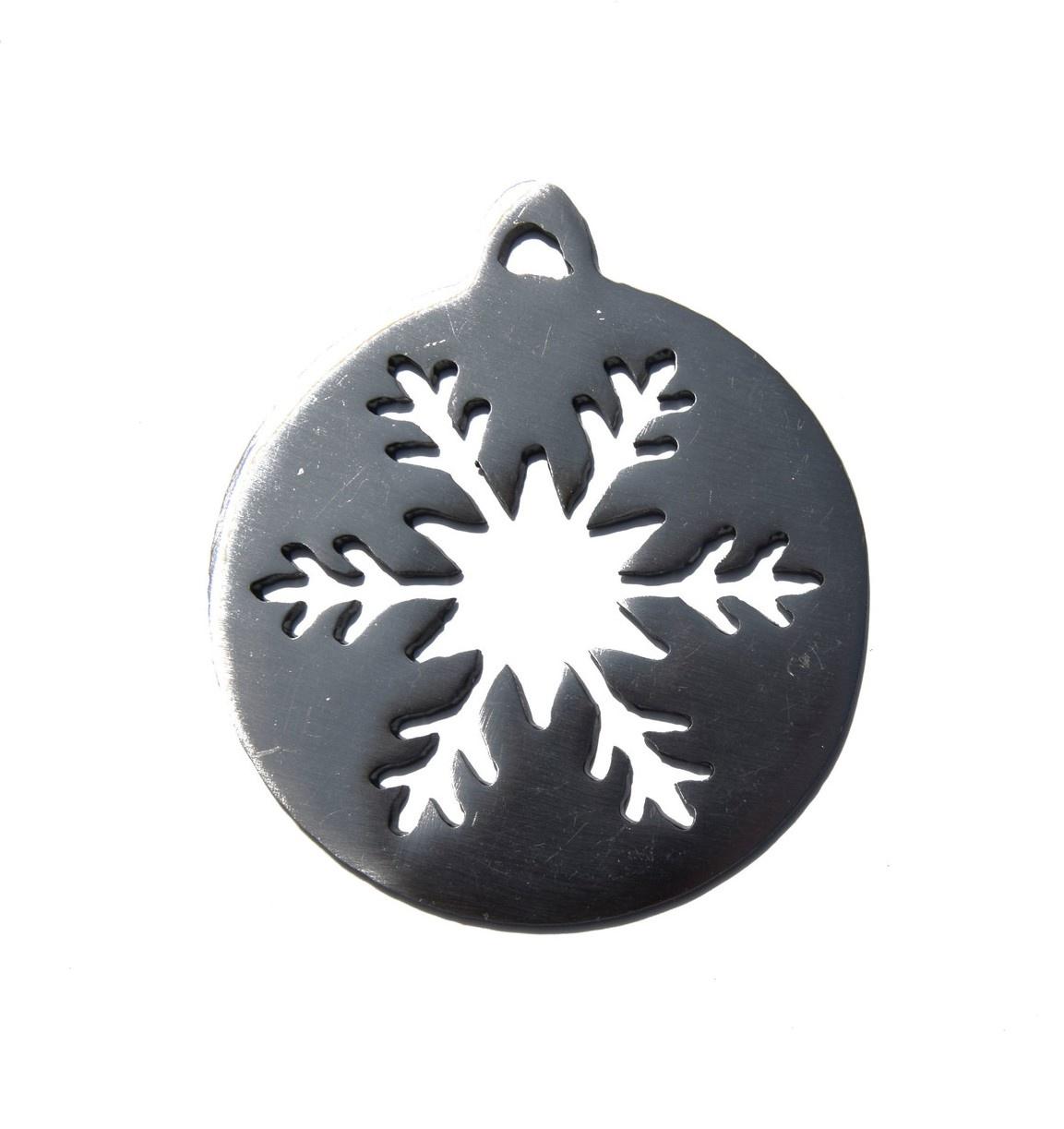 Snowflake Ball Ornament-1
