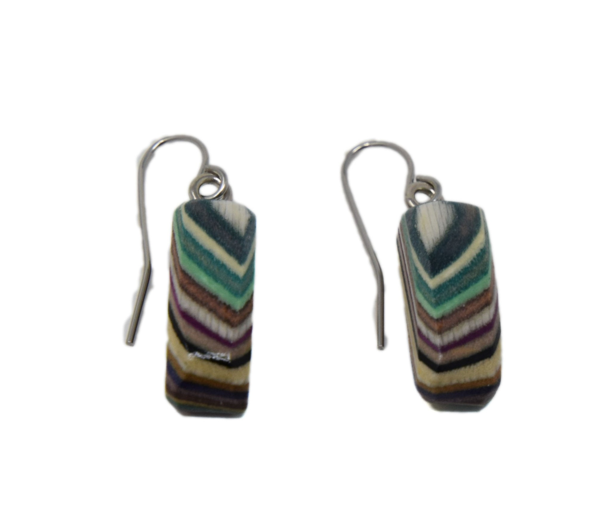 Tiny Rectangle Earrings-1