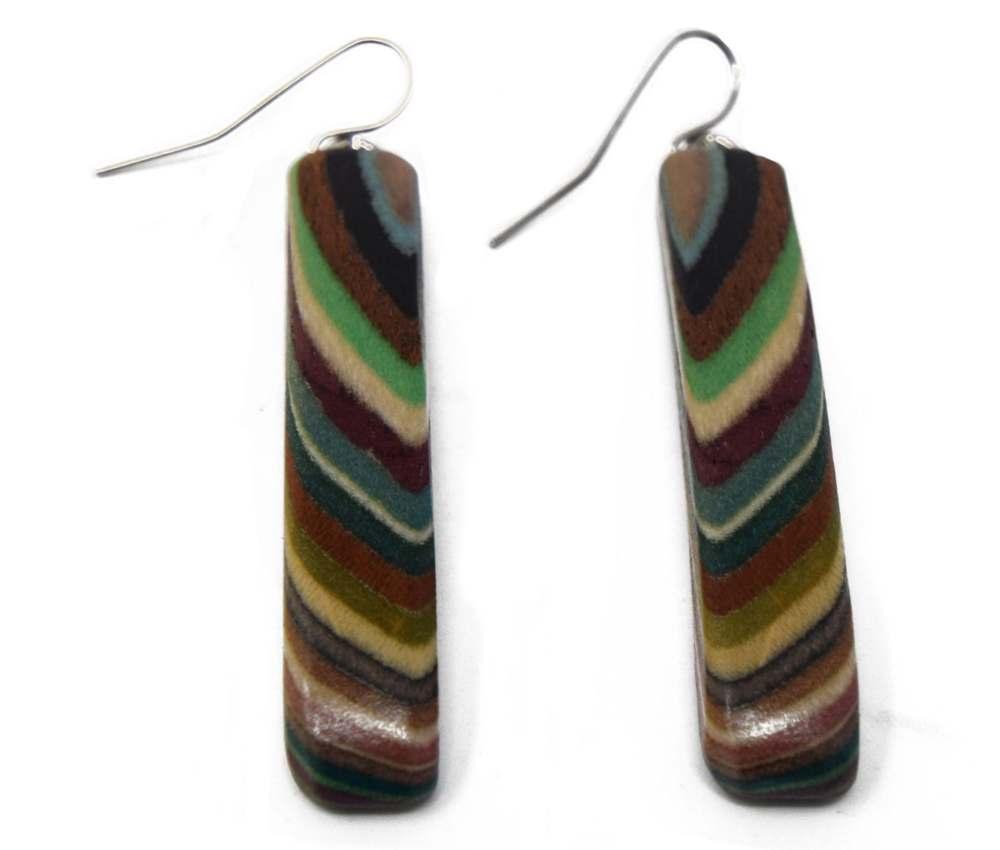 Long Rectangle Earrings-1