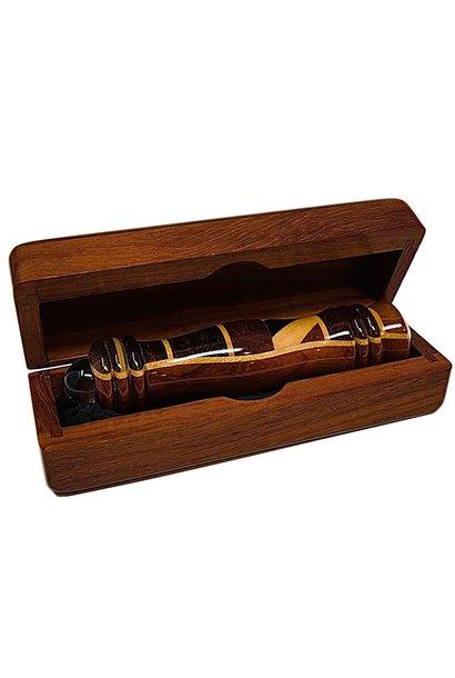 WOOD BOX W/ 4.5IN TELEIDOSCOPE BOX4.5