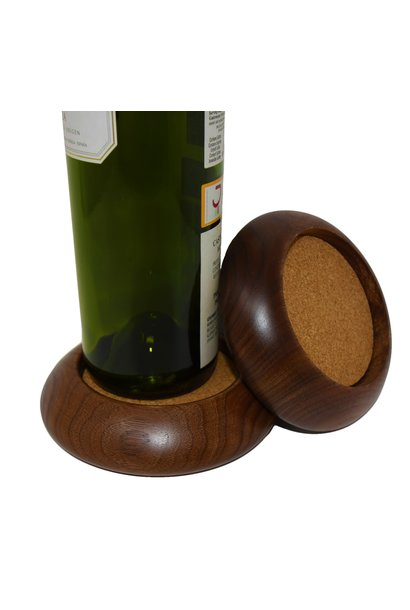 Wood Wine Bottle Coaster, Discontinued