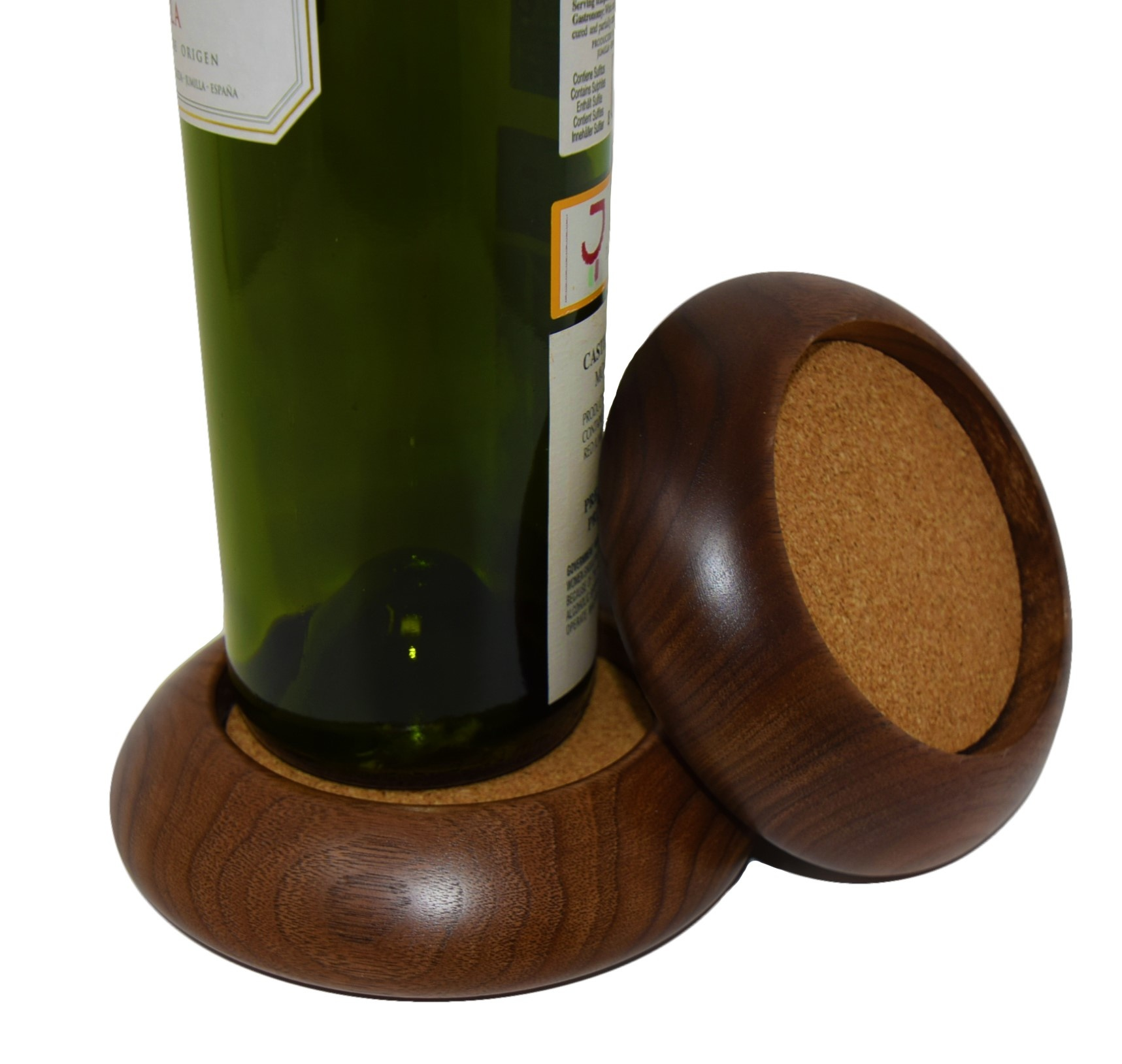 Wood Wine Bottle Coaster, Discontinued-2