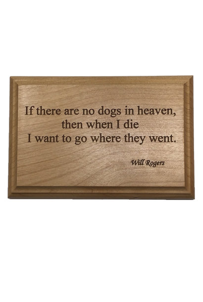 4 x 6 Cherry plaque with quote