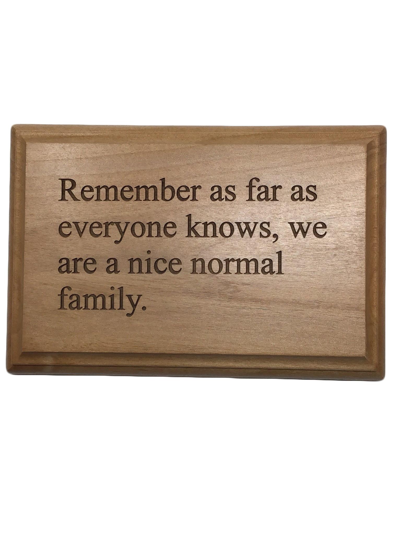 4 x 6 Cherry plaque with quote-10