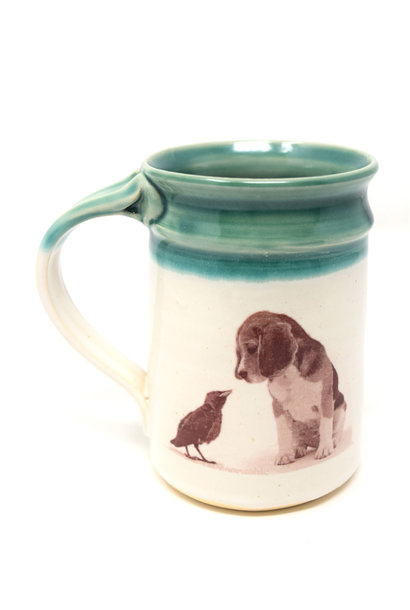 Beagle with Bird Mug