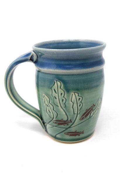 Carved Fish Mug
