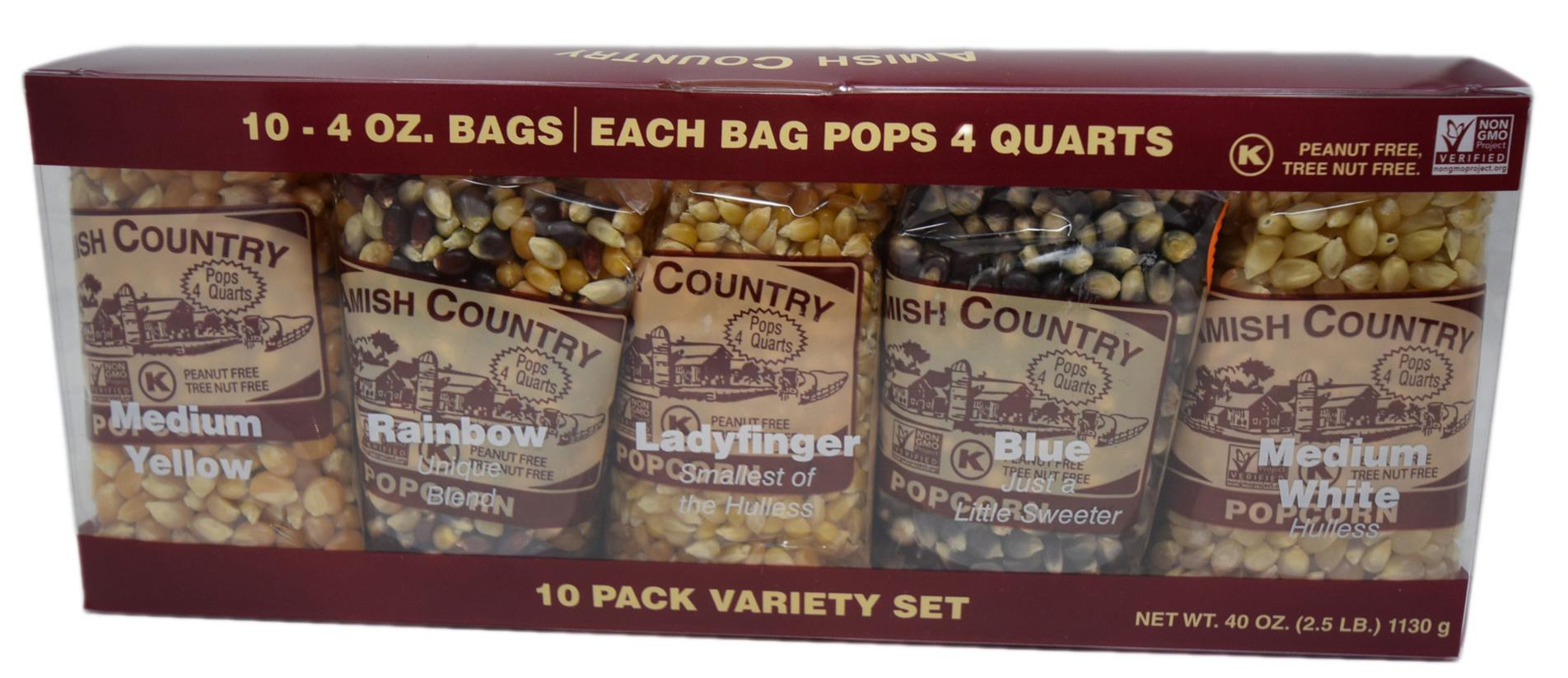 10, 4oz popcorn sampler set-1
