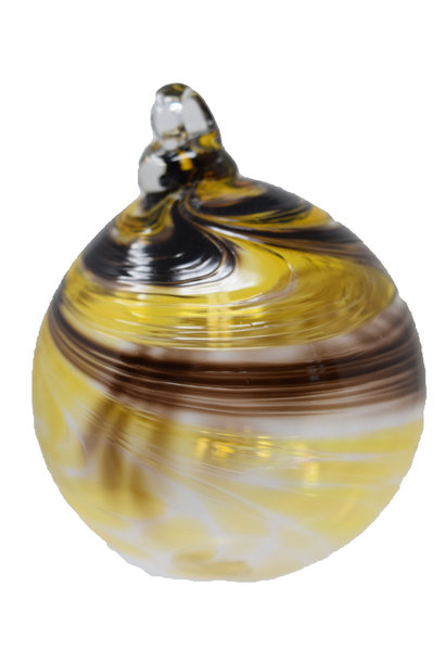 Gentle Swirl Ornament brown yellow