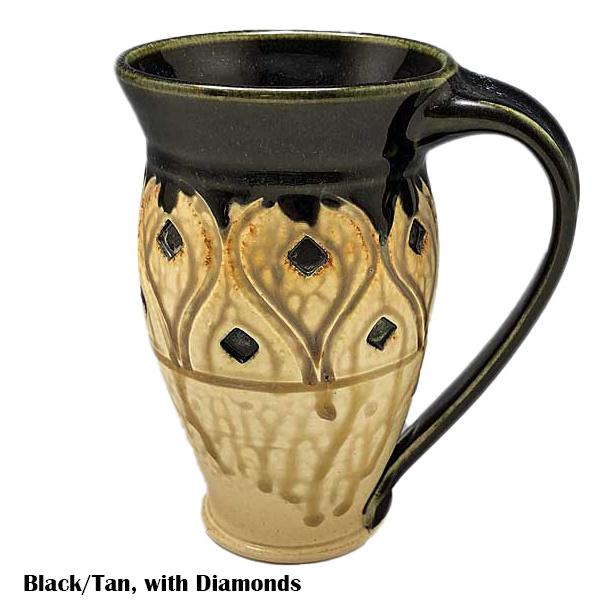Large Carved Mug-2