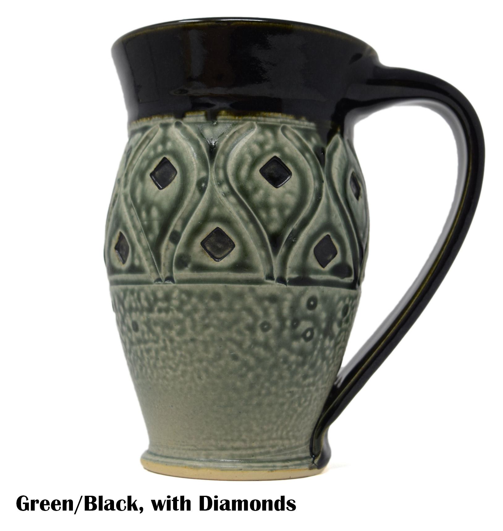 Large Carved Mug-6