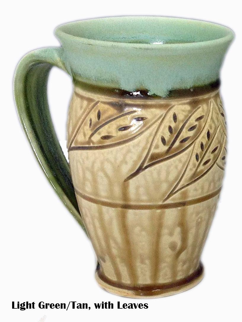 Large Carved Mug-3