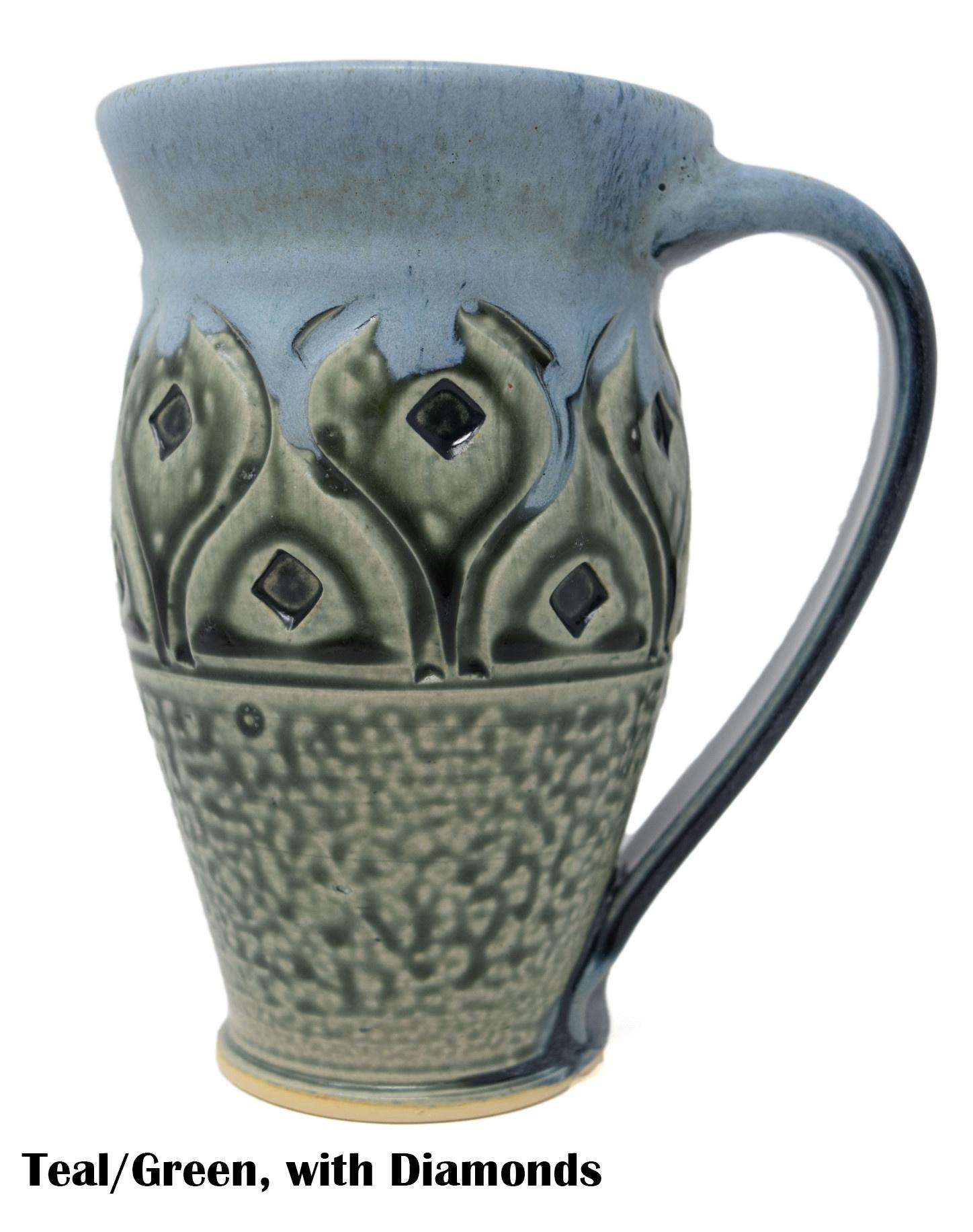 Large Carved Mug-7