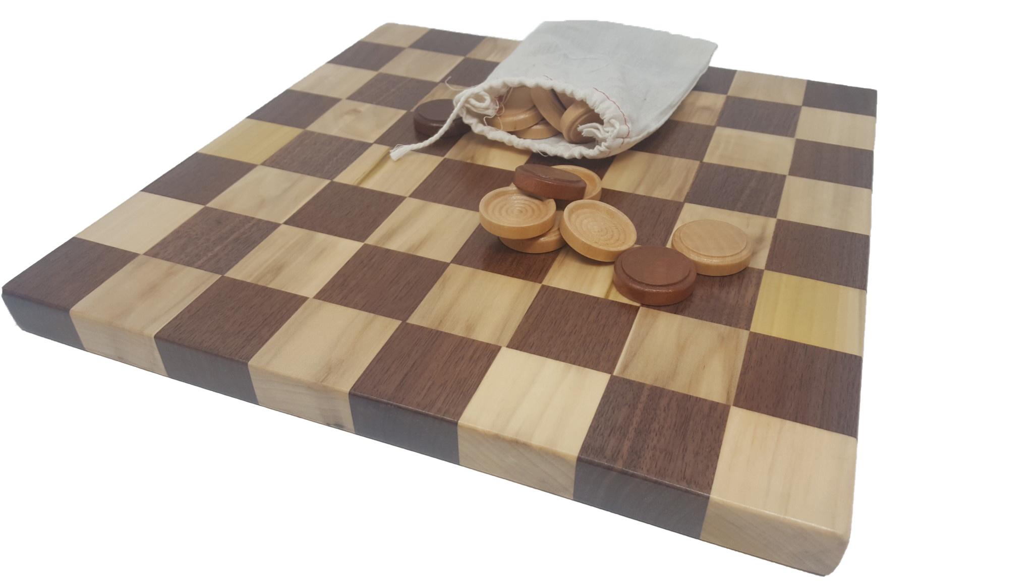 Checker board with checkers-1