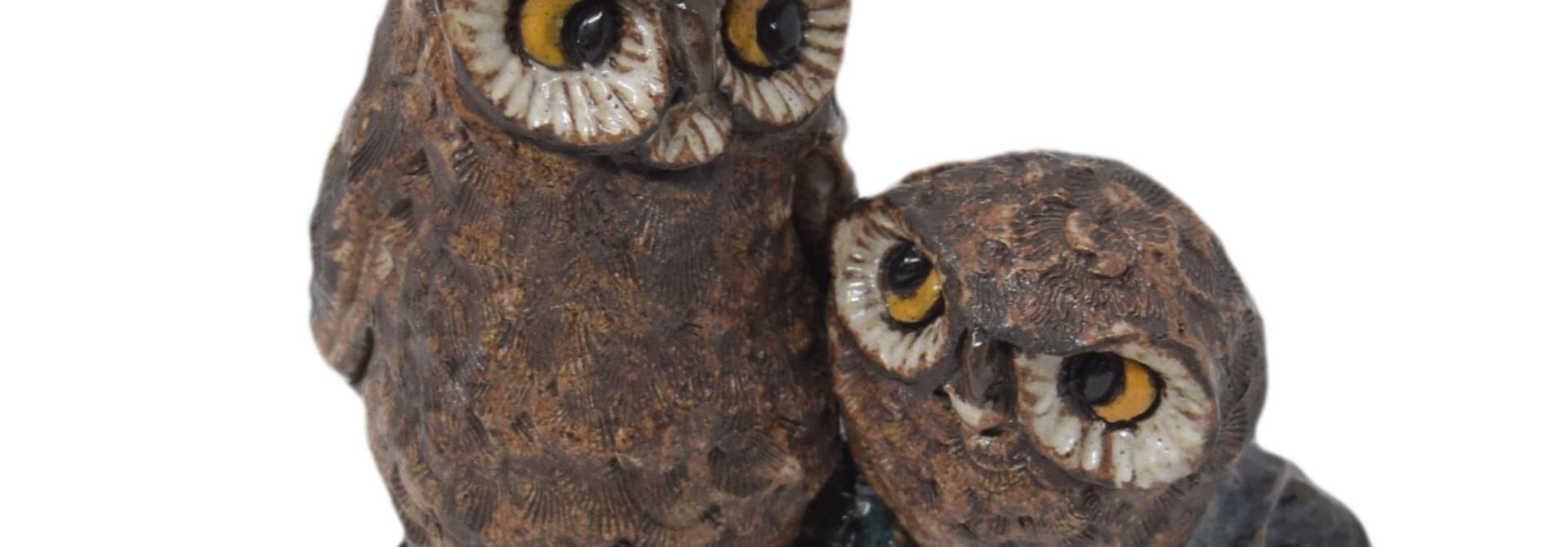 Birds Mama & Baby Owls