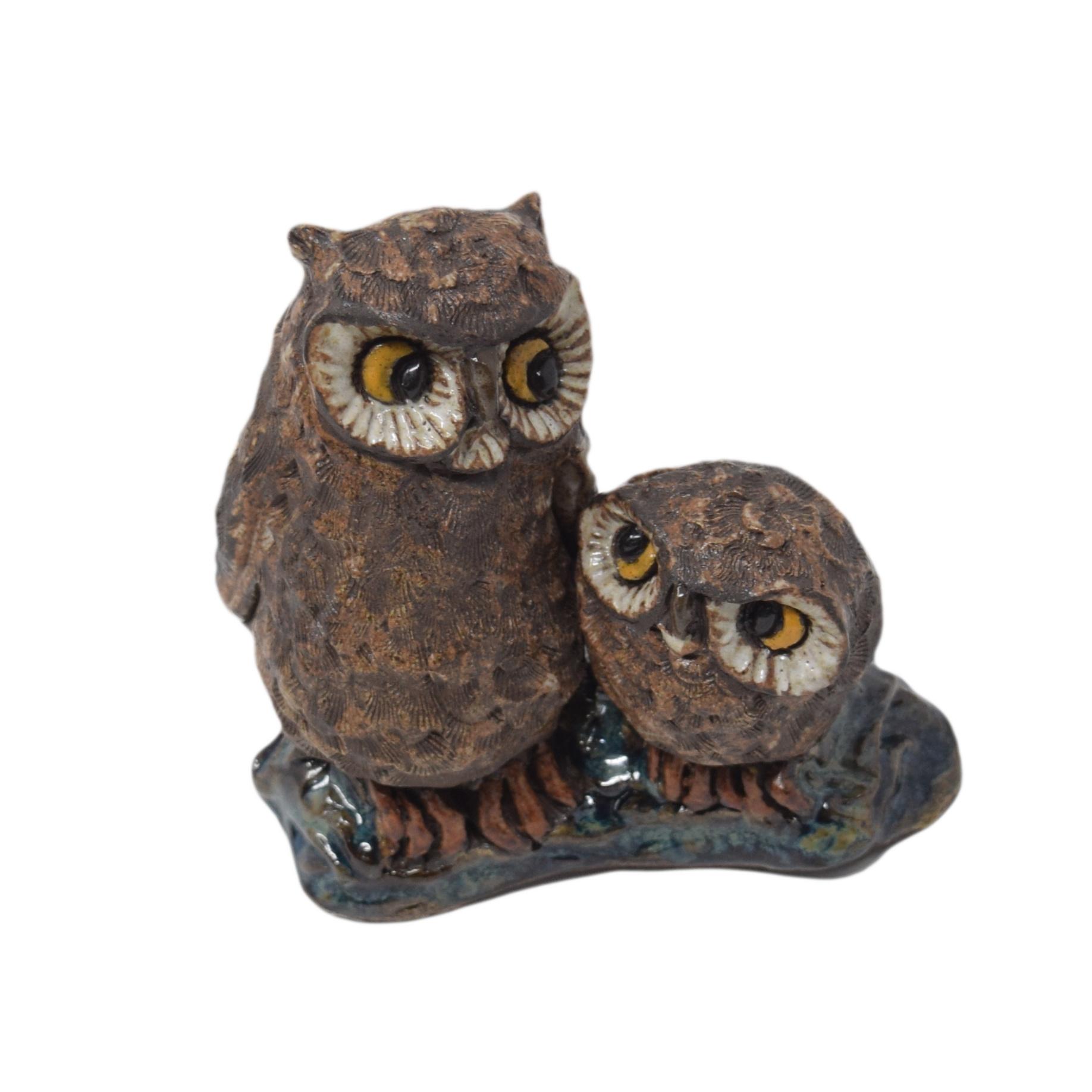 Birds Mama & Baby Owls-1