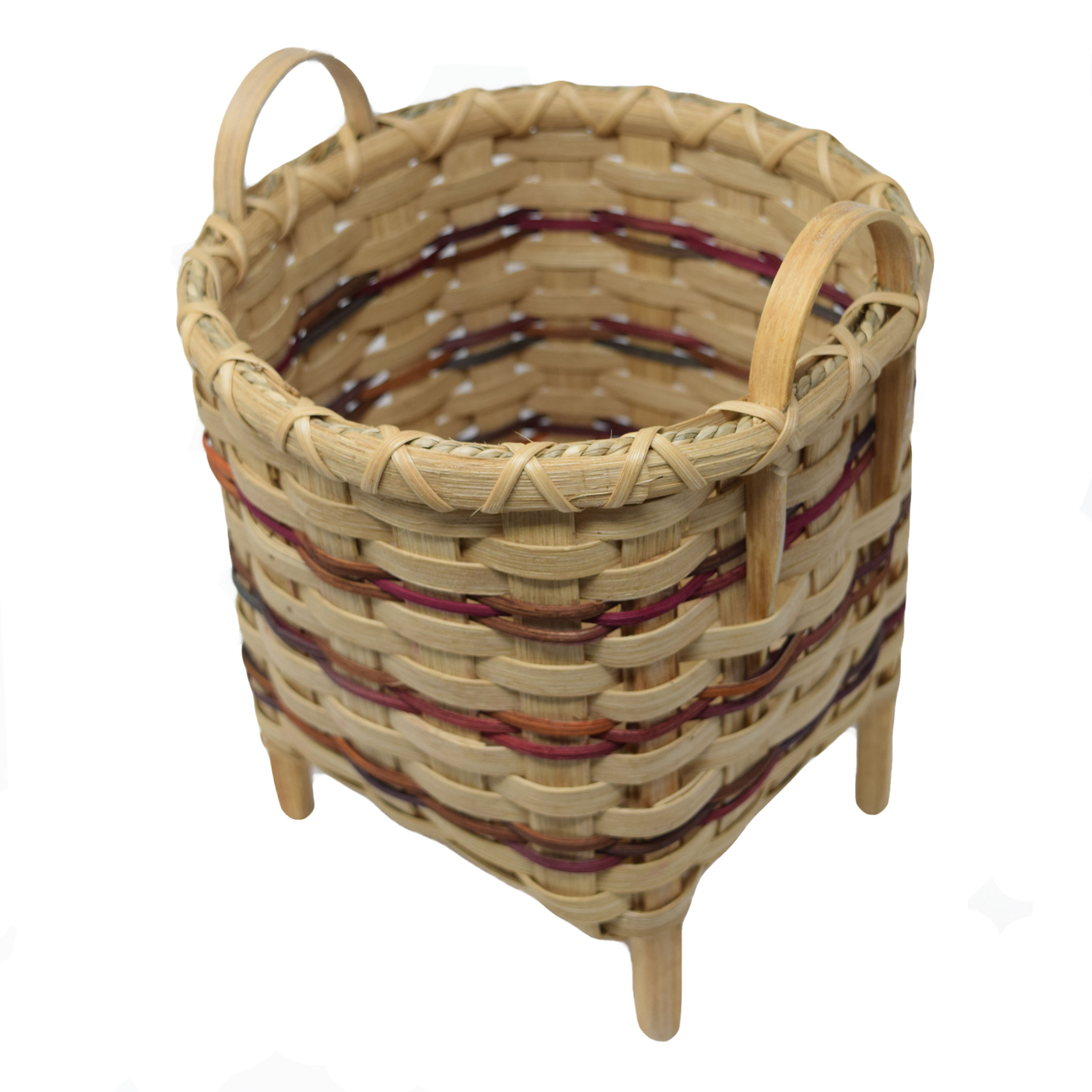 Footed Square Basket-1