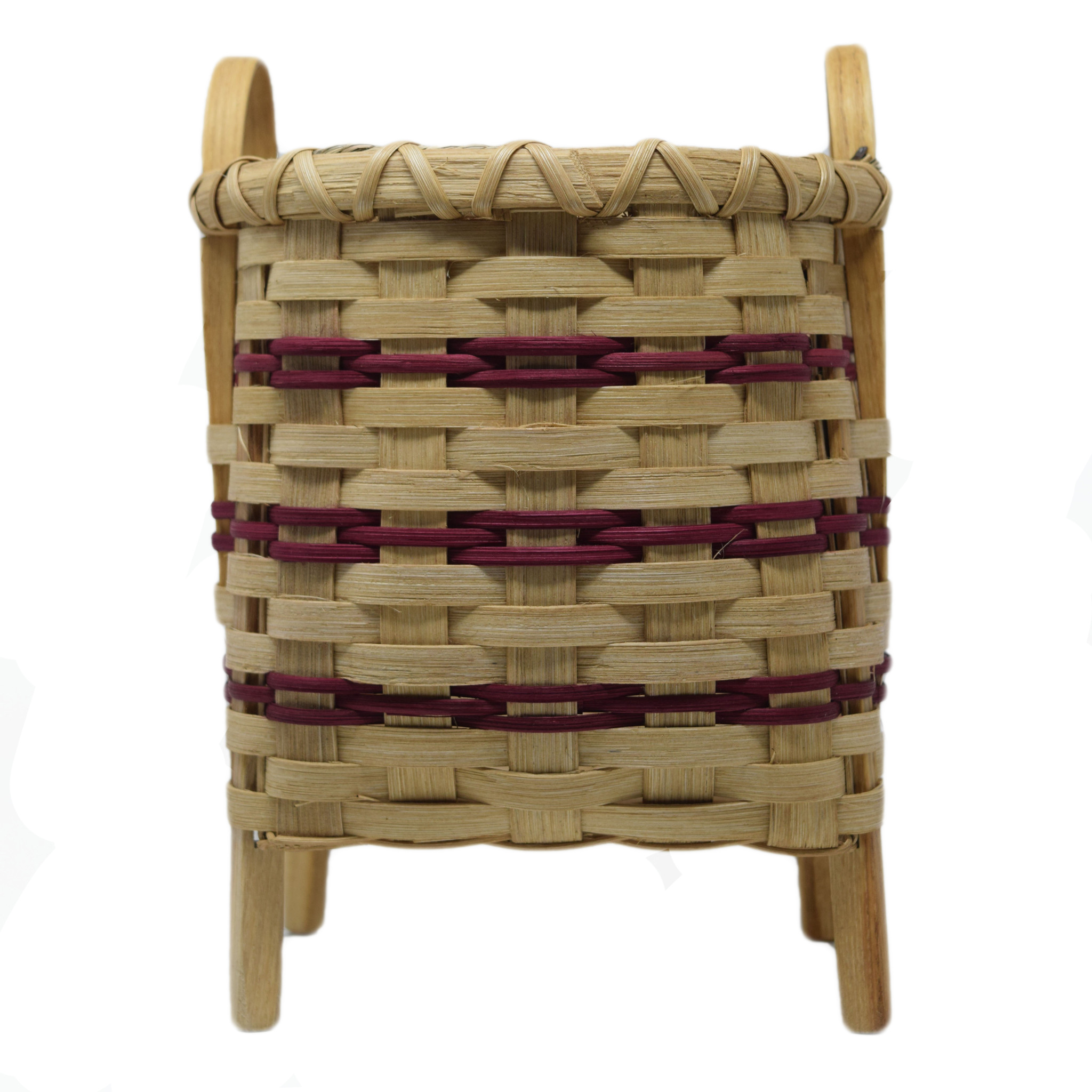 Footed Square Basket-2