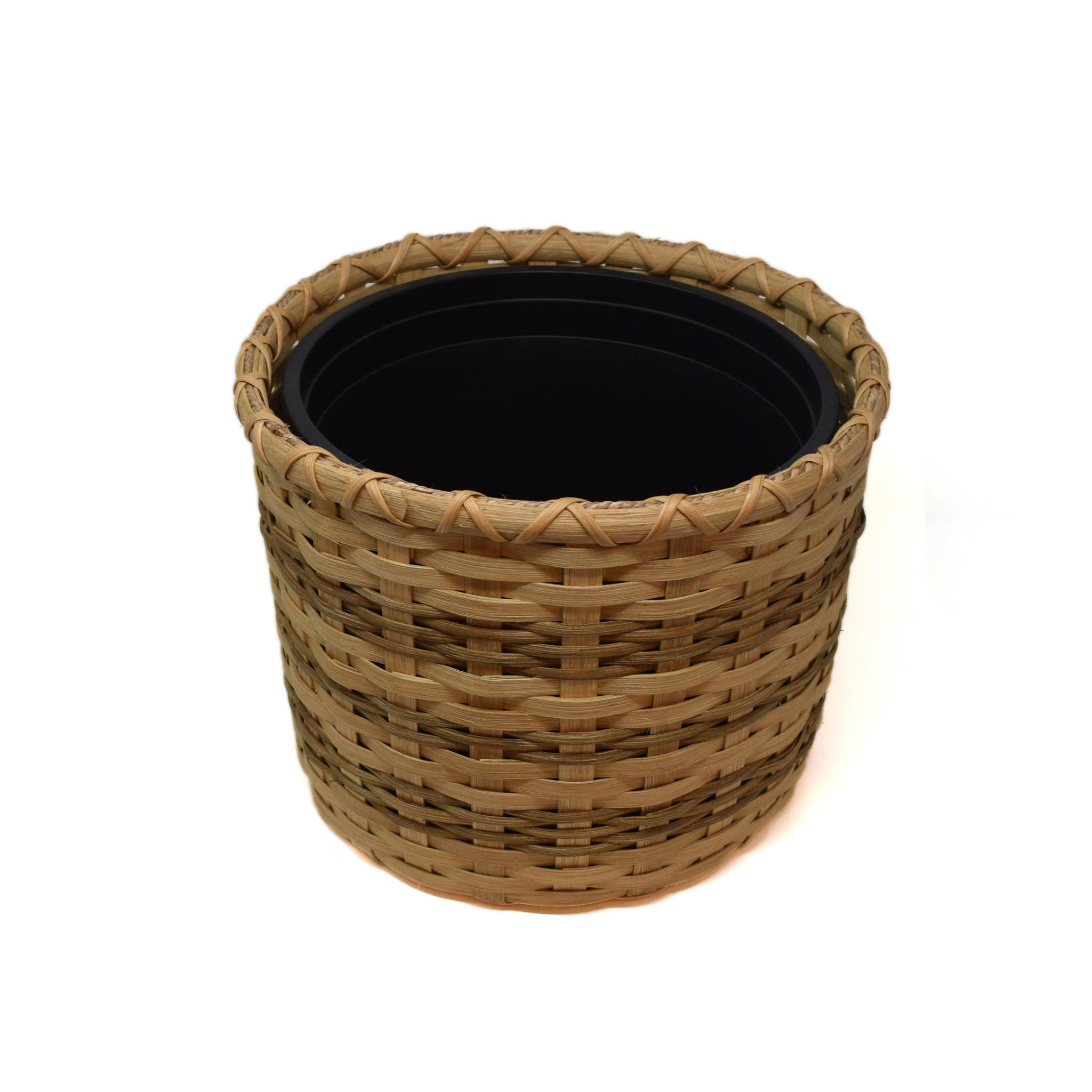 Lined Trash Basket-1