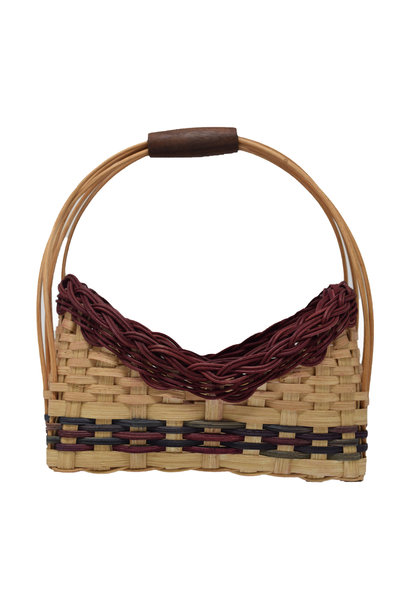Wooden Handle Basket