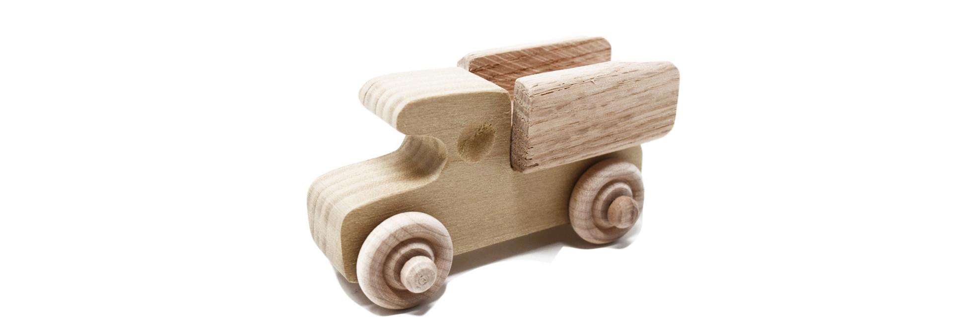 Mini Wooden Pickup Wheel Toy