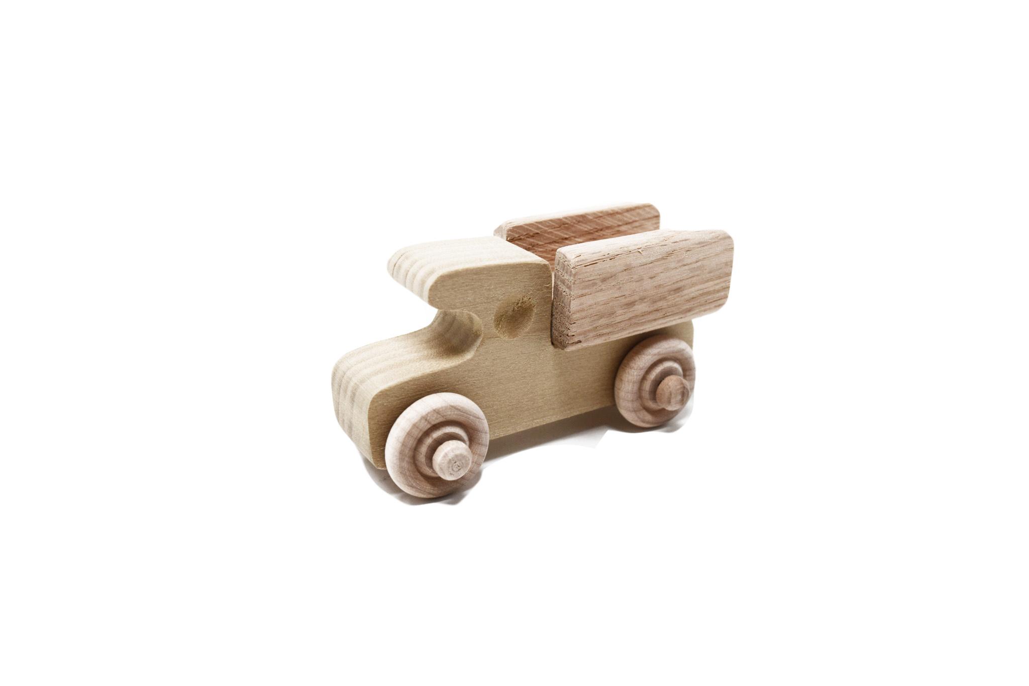Mini Wooden Pickup Wheel Toy-1