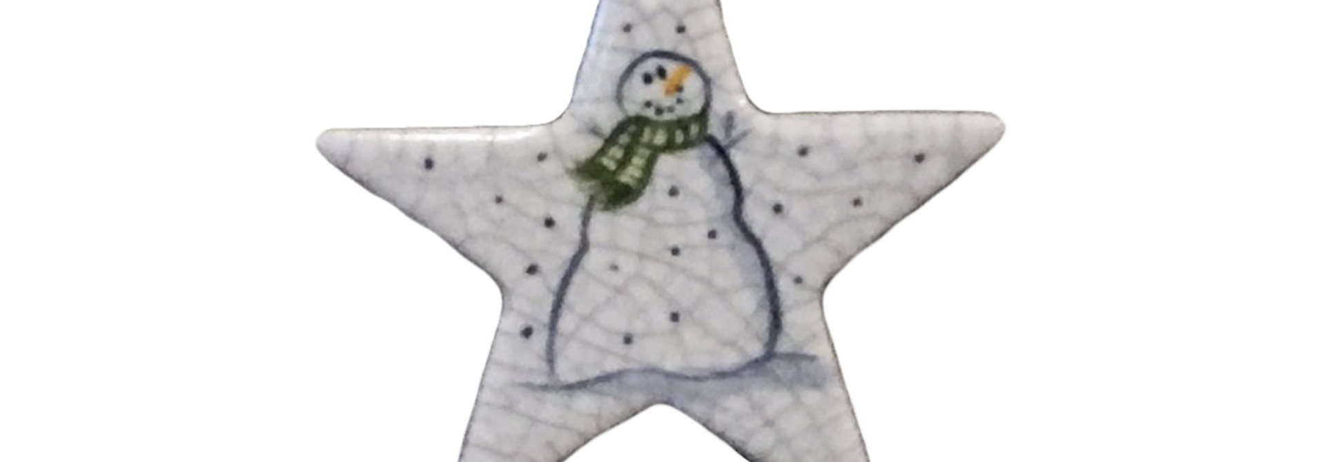 STAR WITH SNOWMAN