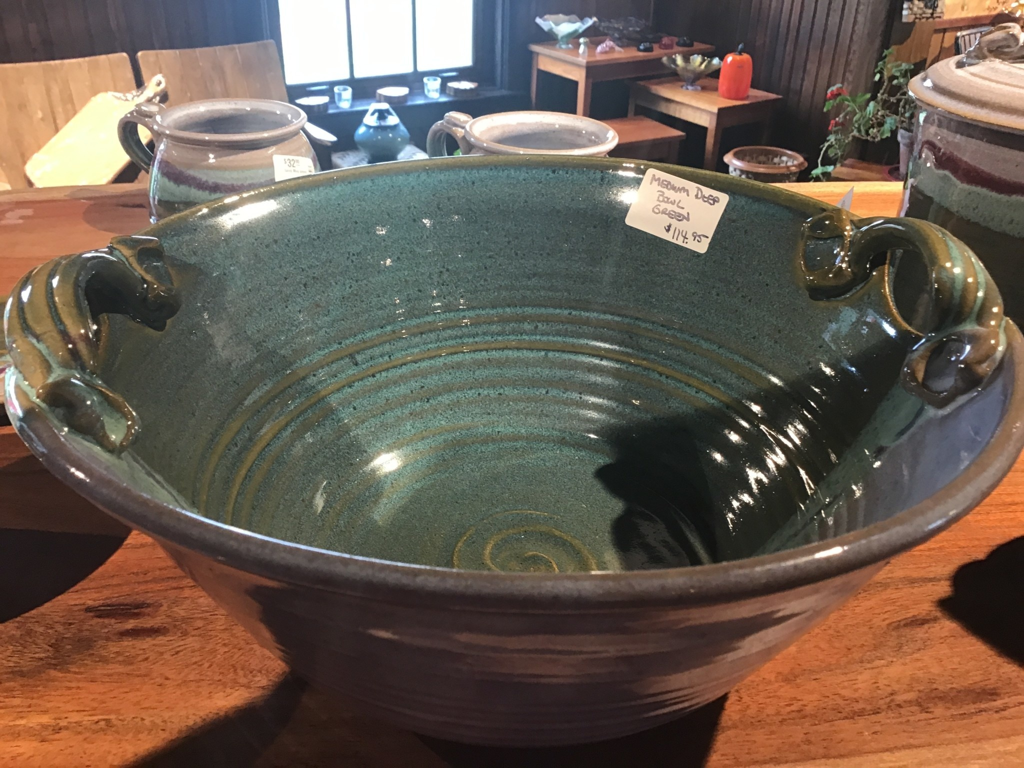 Medium Deep Bowl w/Handles-2