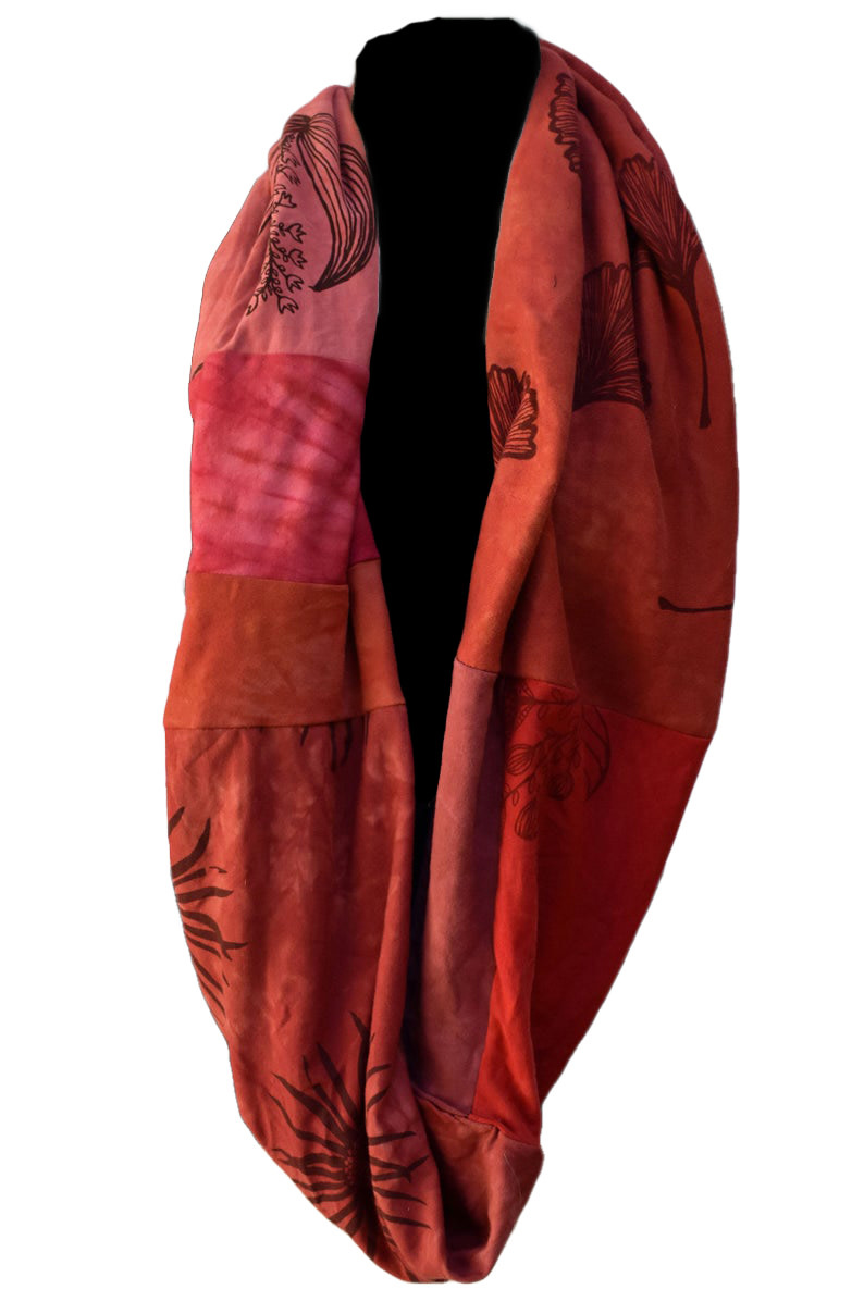 Infinity Scarf  Red-1