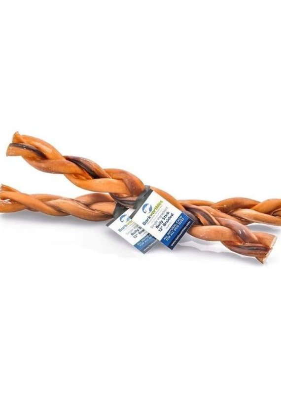 Barkworthies Barkworthies Bully Stick Braided 12""