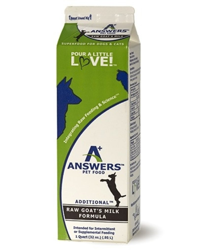 Answers Answers FZN Goat Milk