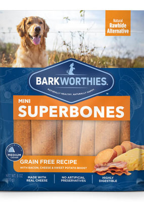 Barkworthies Barkworthies SuperBone Bacon Cheese Mini