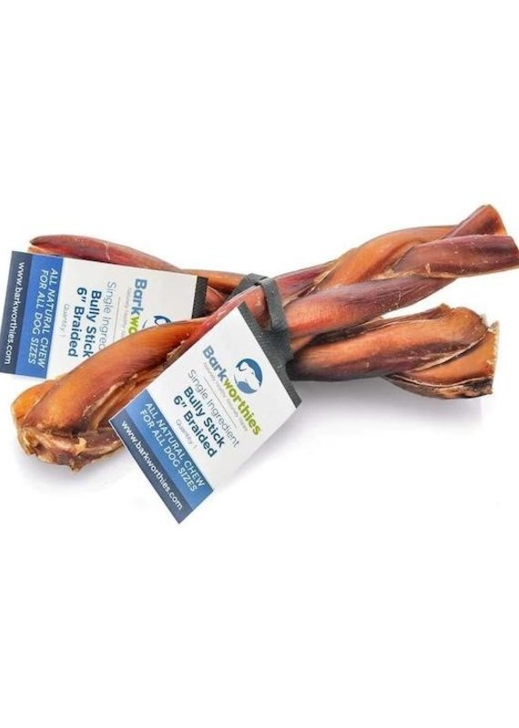 Barkworthies Barkworthies Bully Stick Braided 6""
