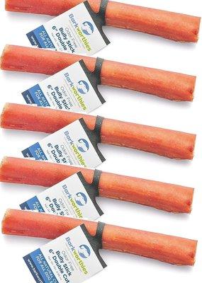 "Barkworthies Barkworthies Bully Stick Double Cut Odor Free 6"""