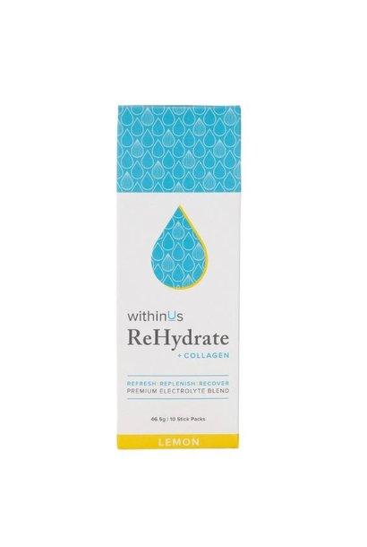 ReHydrate + Collagen Stick Packs - Lemon