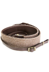 Cecilia Cecilia Walnut baby alpaca wool/brown leather camera strap