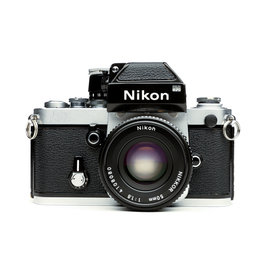 Nikon Nikon F2 Silver 35mm Camera w/50mm f/2 Lens