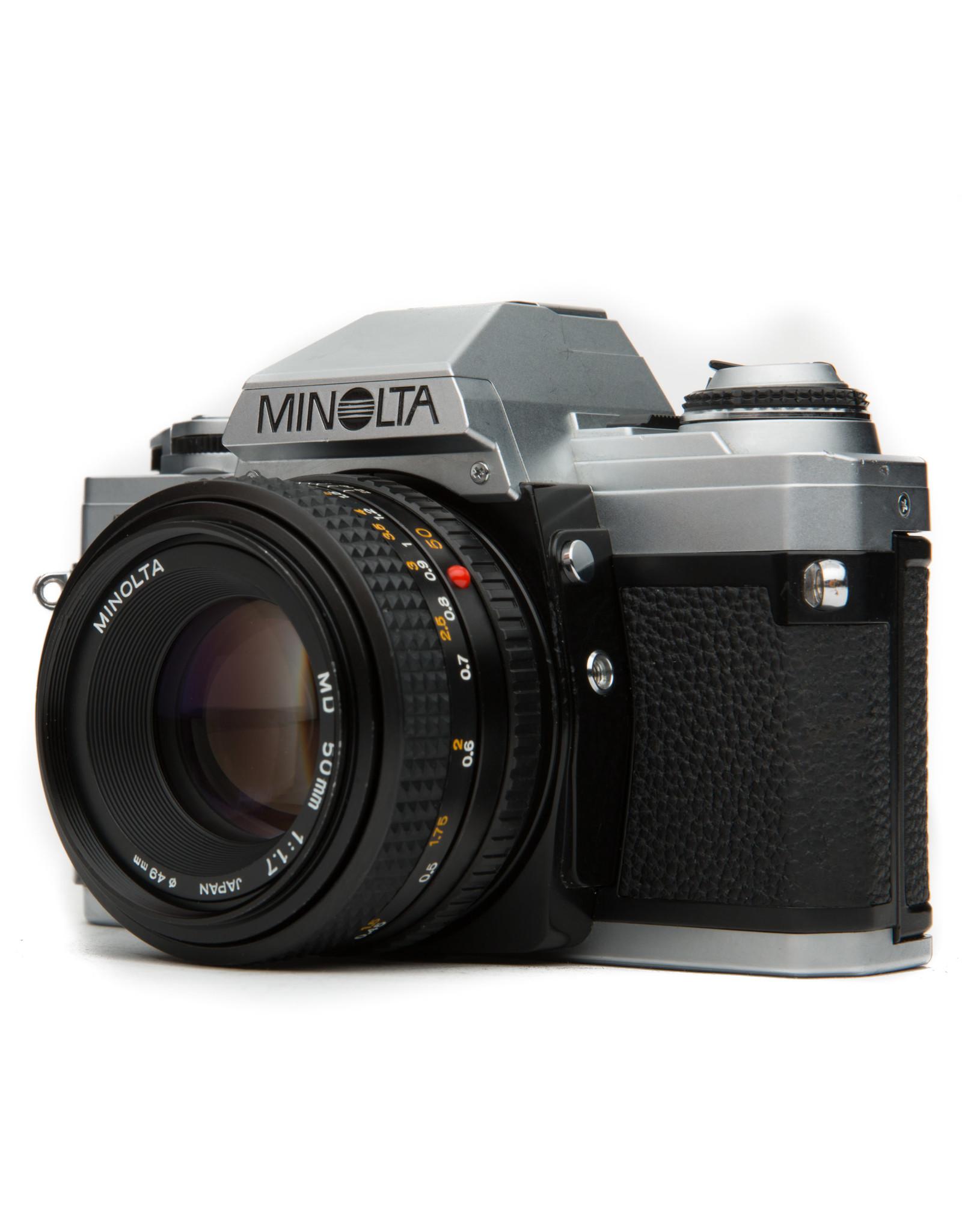 Minolta MIinolta X-370 35mm Camera w/50mm f2 Lens