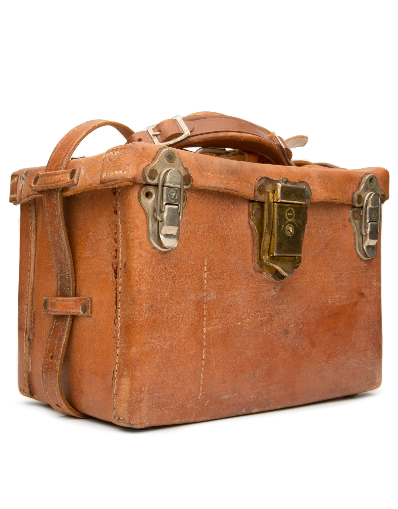 acme camera Vintage Hard Sided Leather camera bag medium deluxe
