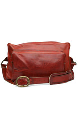 acme camera Vintage Soft Sided Red Tone Leather camera bag Large