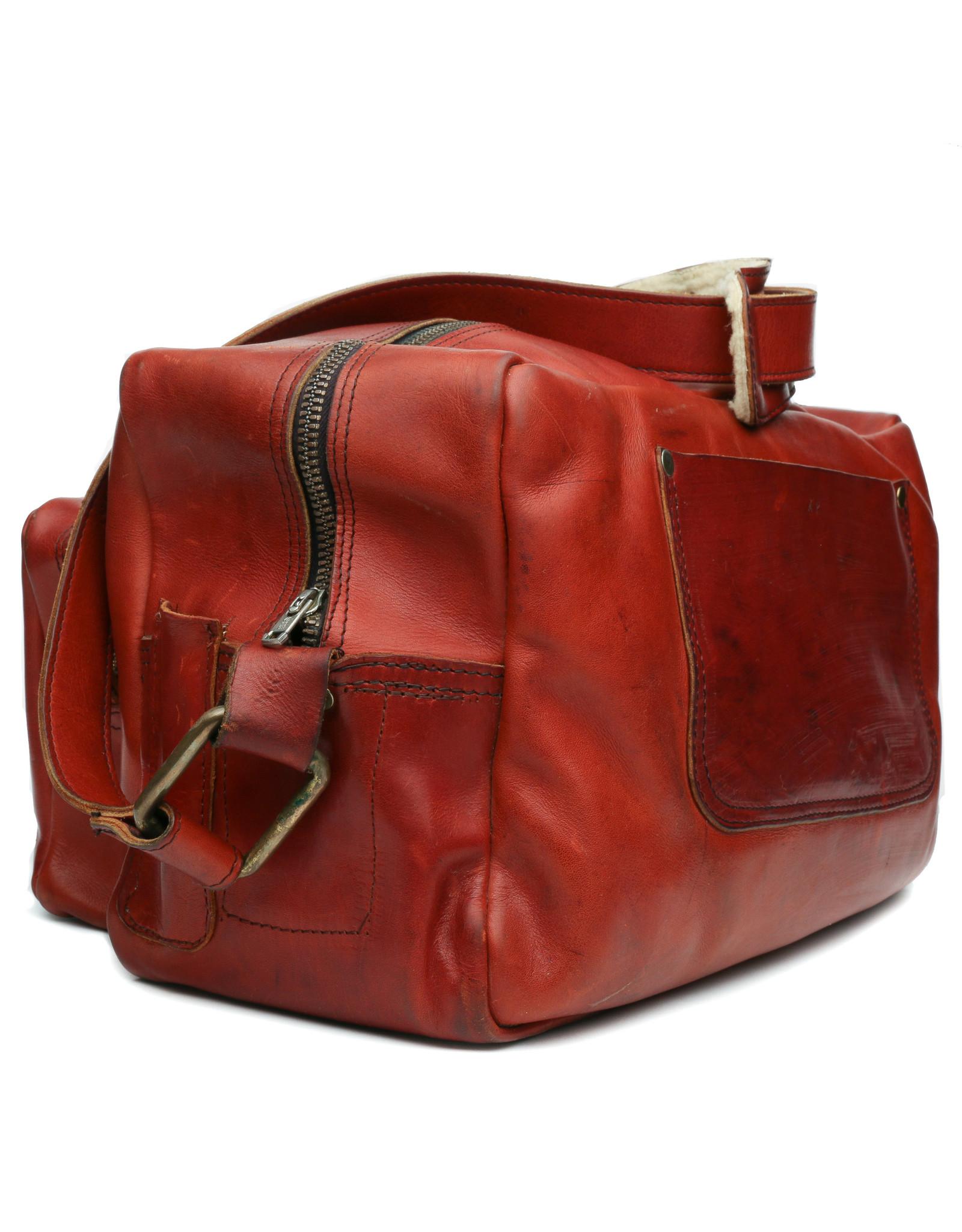 acme camera Vintage Soft Sided Leather camera bag Large