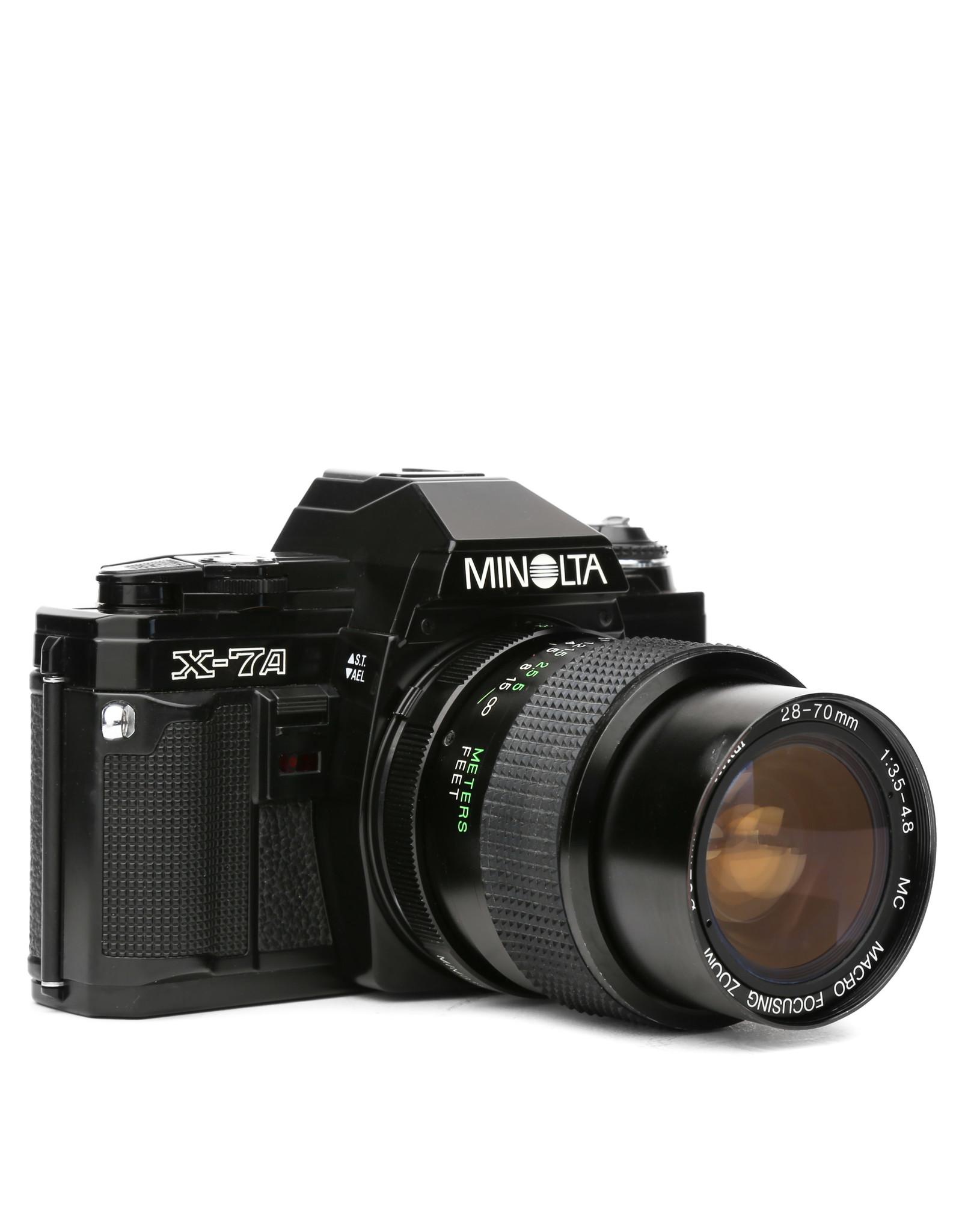 Minolta Minolta X-7A 35mm SLR Camera w/28-70mm Lens