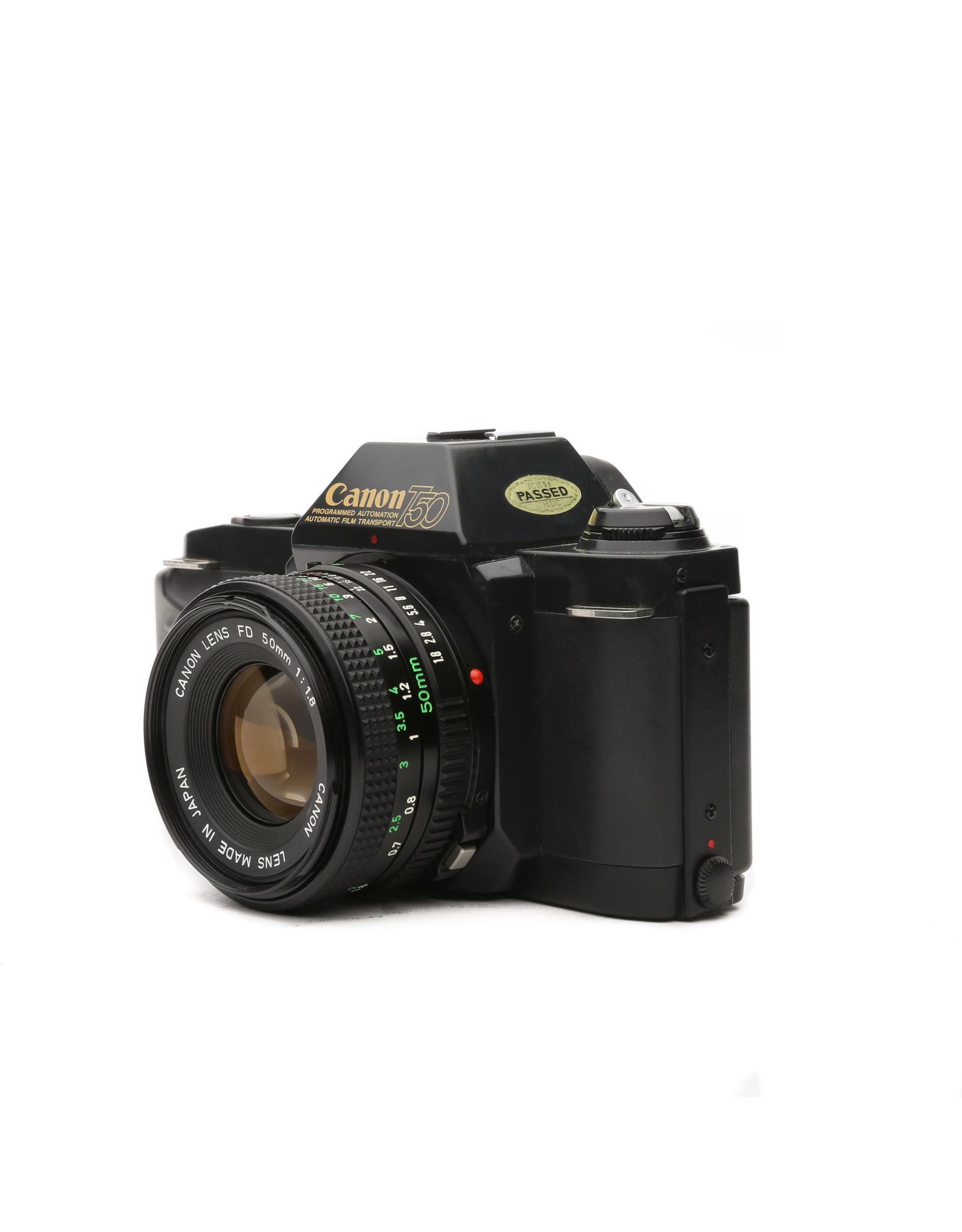 Canon CANON T50 35MM Film SLR Camera W/50mm f1.8 Lens