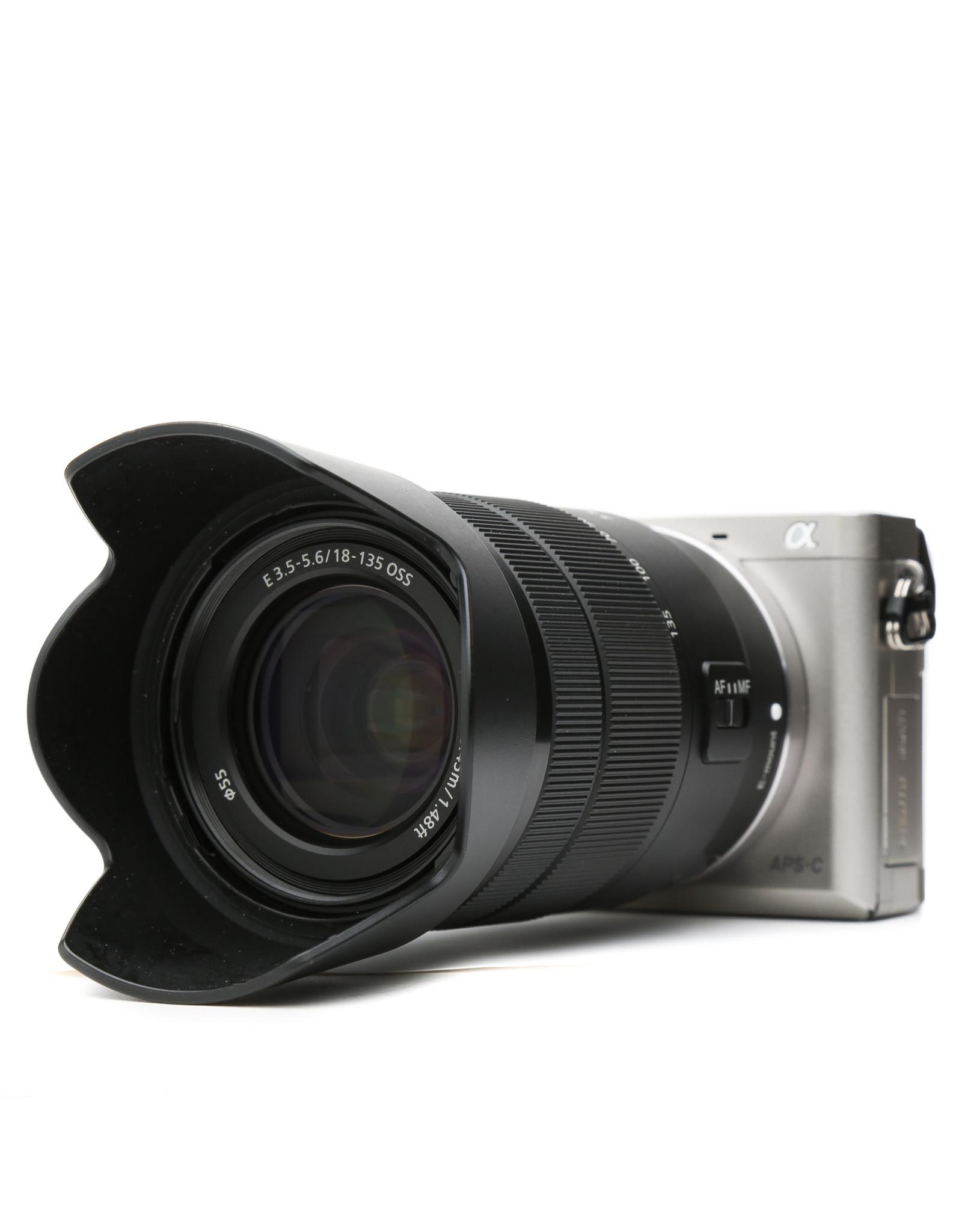 Sony Sony Alpha a6000 Mirrorless Digital Camera (Silver) with18-135mm Lens (Black)