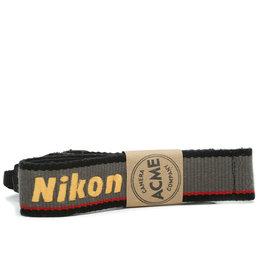 Nikon Nikon Embroidered Grey and Red Original Camera Strap